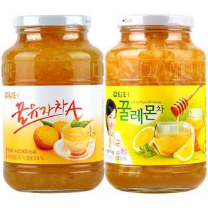 담터 꿀유자차A 1kg + 꿀레몬차 1kg (무료배송)